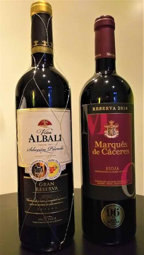 2 exclusive bottles of wine.
