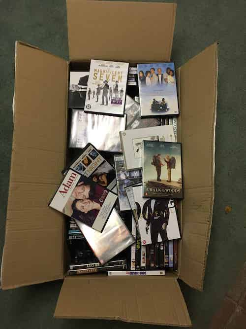 Box with 100 art house movies.