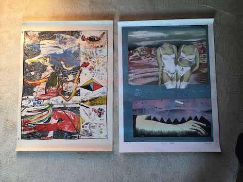 2 graphic prints of Polish avant garde artists.